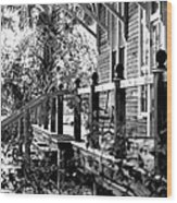 Rustic Country Front Porch Wood Print