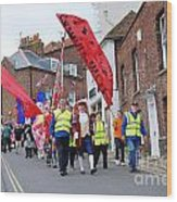 Rye Olympic Torch Relay Parade Wood Print