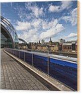Sage Gateshead And Newcastle Skyline Wood Print