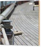 Sail Boat Rope Wood Print