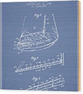 Sailboat Patent From 1996 - Vintage Wood Print