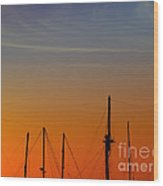Sailing Boats Wood Print
