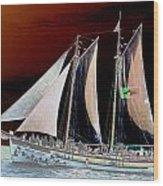 Sailing In Hope Wood Print