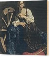 Saint Catherine Of Alexandria Wood Print