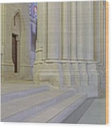 Saint John The Divine Cathedral Columns Wood Print