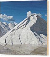 Salines De Llevant Salt Works Wood Print