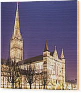 Salisbury Cathedral Wood Print