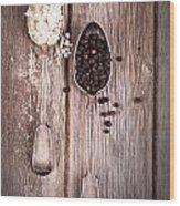 Salt And Pepper Vintage Wood Print by Jane Rix