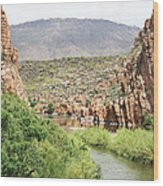 Salt River Above Roosevelt Lake Wood Print