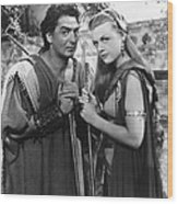 Samson And Delilah, From Left Victor Wood Print
