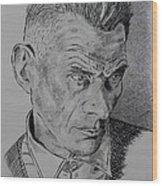 Samuel Beckett Wood Print