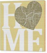 San Antonio Street Map Home Heart - San Antonio Texas Road Map I Wood Print