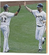 San Francisco Giants V Milwaukee Brewers 1 Wood Print
