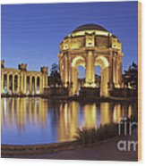 San Francisco Palace Of Fine Arts Theatre Wood Print