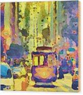 San Francisco Trams 12 Wood Print