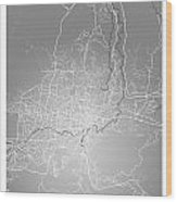 San Salvador Street Map - San Salvador El Salvador Road Map Art  Wood Print