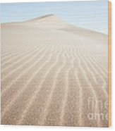 Sand Dunes In The Desert At Sunrise Dunhuang China Wood Print