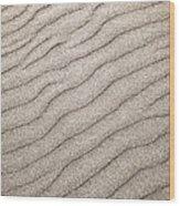 Sand Ripples Abstract Wood Print