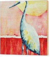 Sandhill Crane II Wood Print