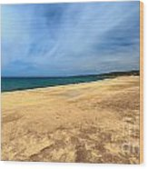 sandy beach in Piscinas Wood Print