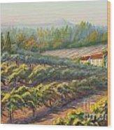 School House Vineyard Wood Print