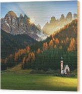 Santa Maddalena... Wood Print
