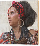 Santeria Woman Wood Print