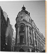 Santiago Stock Exchange Building Chile Wood Print