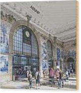 Sao Bento Railway Station Porto Portugal Wood Print