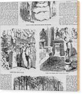 Saratoga Springs, 1859 Wood Print