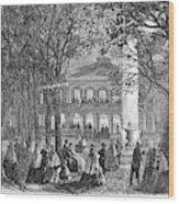 Saratoga Springs, 1865 Wood Print