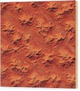 Satellite View Of Murzuk Desert, Libya Wood Print