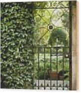 Savannah Gate Impasto Wood Print