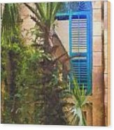 Savannah Window Impasto Wood Print