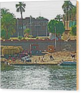 Scene Along Nile River Between Luxor And Qena-egypt  Wood Print