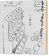 Schickard Calculator Wood Print