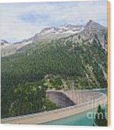 Schlegeis Dam And Reservoir  Wood Print