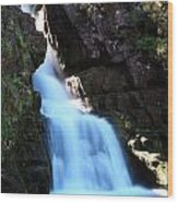 Scotish Waterfall  Wood Print