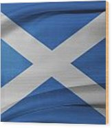 Scottish Flag Wood Print