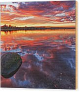 Scottish Loch At Sunset Wood Print by John Farnan