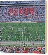 27w115 Script Ohio In Osu Stadium Wood Print