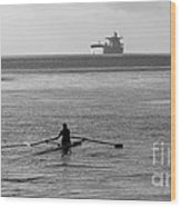 Sculling On The Bay Wood Print