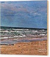 Sea Sand Wc Wood Print