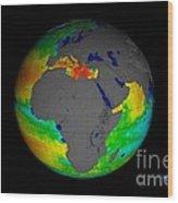 Sea Surface Salinity, Aquarius Image Wood Print