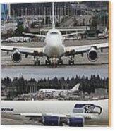 Seahawks 747 Wood Print