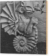 Seahorse Of The Garden Wood Print