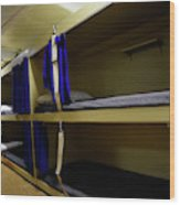 Seaman Lockers And Bunks Aboard Uss Wood Print