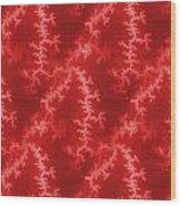 Seamless Fractal Red Wood Print
