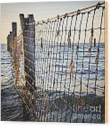Seaside Nets Wood Print