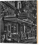 Seattle Coffee Works Wood Print